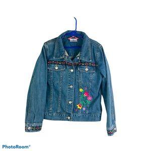 Hanna Andersson 140 (10) Floral Blue Jean Jacket